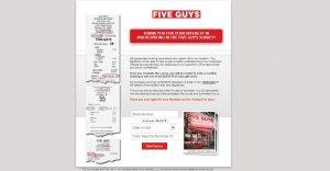 www.fiveguys.com/survey